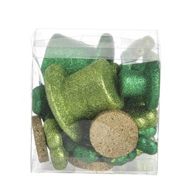 Darice Irish St Patricks Glitter Top Hats Shamrocks Coins 22pc Assorted