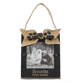 Mud Pie Pet Photo Frame Favorite Family Member 7x6 Inch