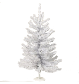 Kurt Adler Shiny White Miniature Christmas Tree 18 Inch