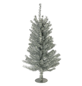 Kurt Adler Silver Christmas Tree 18 inch Miniature Tree