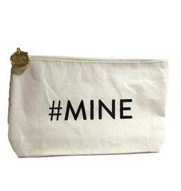 Twos Company Canvas Bag w Quote-#Mine-Zippered Everything Bag