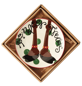 Mud Pie Christmas Mini Plate w Saying REINDEER TREATS