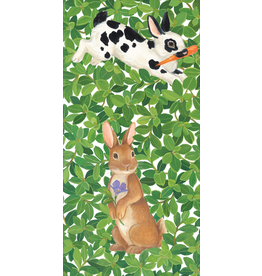 Caspari Paper Facial Tissues Hankies 10pk Bunnies And Boxwood
