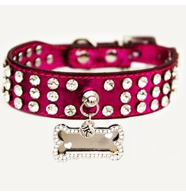Jacqueline Kent Jewelry Rhinestone Dog Collar Pink Small 15in by Jacqueline Kent Jewelry