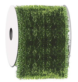 Ribbons Trims Green Tinsel Town Ribbon w Fabric Back Wired