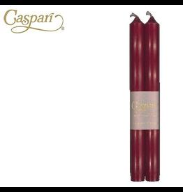 Caspari Crown Candles Tapers 10 inch 2pk Bordeaux