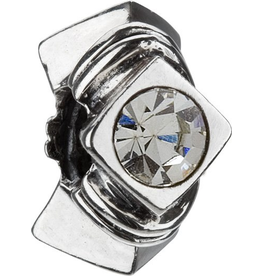 Chamilia Stone Silver Bead JB-5H Diamond Shape Clear CZ