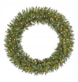 Winward Christmas Wreaths Pre-Lit Large Douglas Fir Display Wreath 48 Inch