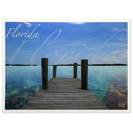 Charles W Art Greeting Card Florida Docked Florida Reef