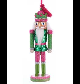 Kurt Adler Preppy Chic Nutcracker Ornament 6 Inch Green Pink