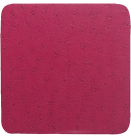 Caspari Coasters Set of 8 Felt Backed Ostrich - Fuchsia