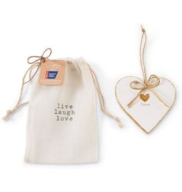 Mud Pie Heart Ornament American Cancer Society Live Love Laugh
