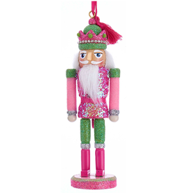 Kurt Adler Preppy Chic Nutcracker Ornament 6 Inch Pink Green