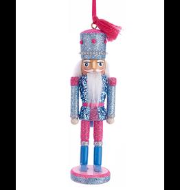 Kurt Adler Preppy Chic Nutcracker Ornament 6 Inch Blue Pink