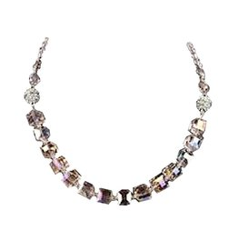 Jacqueline Kent Jewelry Crystal Cube 3 In 1 Necklace Bracelet Anklet Iridescent Pink
