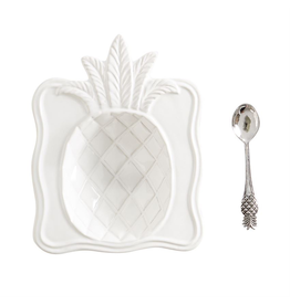 Mud Pie Pineapple Candy Dish Set With Spoon