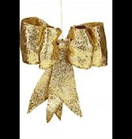 Gold Glitter Bow SM 8 Inch