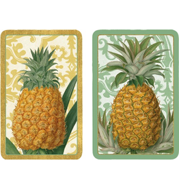 Caspari Playing Cards 2 Decks of Royal Pineapple Bridge Cards
