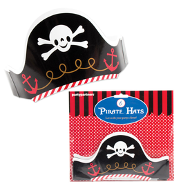 Pirate Hats Set 6pk Paper Crown Style Adjustable by Party Partners