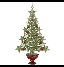Kurt Adler Christmas Tree Ornament w Green Stars and Red Berries