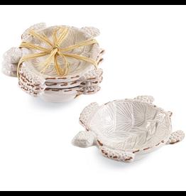 Mud Pie Terracotta Turtle Mini Dip Cups Set of 3