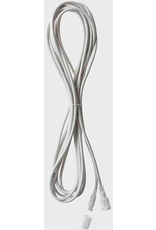 12FT Extension Cord White Wire 3-Channel - Plus 1 Pass-Through Power Channel