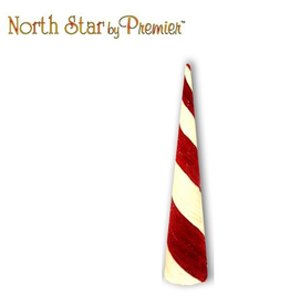 Premier Peppermint Cone 30H Display Christmas Decor
