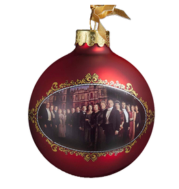 Kurt Adler Downton Abbey Season 3 Glass Family Ball Christmas Ornament DA4135