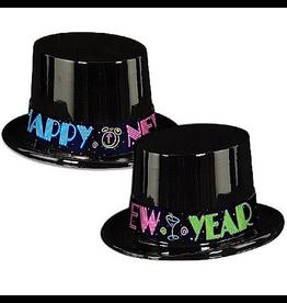 Burton and Burton New Years Decorations Hats Happy New Year Neon High Hat