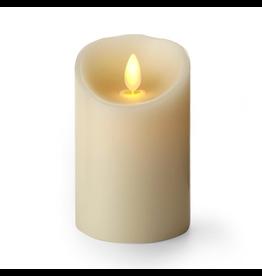 Luminara Flameless Candle Ivory Pillar 3x4 Inch Vanilla Scent LM030401