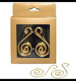 Kurt Adler Deocrative Christmas Ornament Hooks Gold Wire S-Hook 30PK