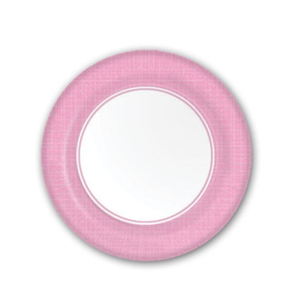 PPD Paper Product Design Paper Plates 87169 Mixx Pink Dessert/Salad