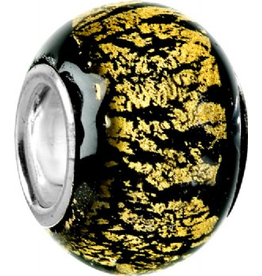 Chamilia Charm Murano Glass Bead O-2 Black Energy