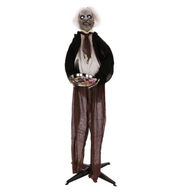 Mark Roberts Halloween Decor Animated Butler w Candy Tray 5 FT