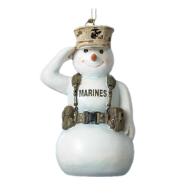 Kurt Adler Marines Snowman Saluting Military Christmas Ornament