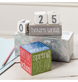 Mud Pie Teacher Break Countdown Block Set