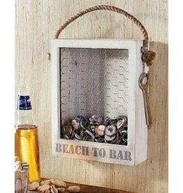 Mud Pie Beach To Bar Bottle Top Display Box W Bottle Opener On Chain