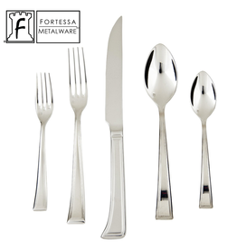 Fortessa Fortessa Pantheon Stainless Steel Flatware Set 5-Piece Setting