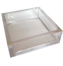 Caspari Lucite Acrylic Cocktail Napkin Holder - Clear