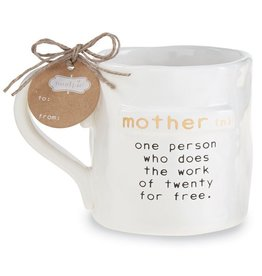Mud Pie Funny Mom Mug Mother Definition