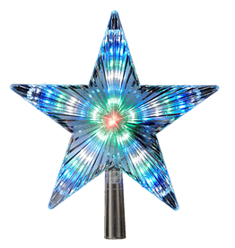 Kurt Adler Christmas Star Tree Topper Mulit Color Changing LED Star