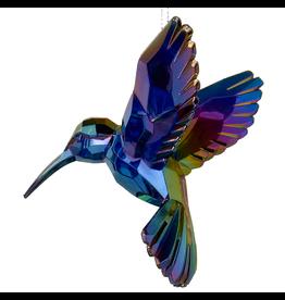 Kurt Adler Iridescent Hummingbird Acrylic Ornament Purple
