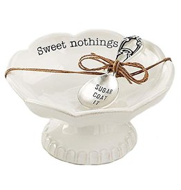 Mud Pie Scallop Candy Dish Set With Spoon Sweet Nothings