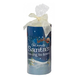 Kurt Adler Merry Christmas Candle Santa Coming to Town 6 Inch