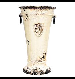 Italian Ceramic Cream Handled Tulip Vase RGA-8935