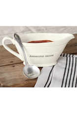 Mud Pie Awesome Sauce Boat Set With Spoon