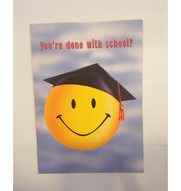 Graduation Card Happy Face w Grad Cap