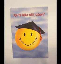 Portal Graduation Card Happy Face w Grad Cap