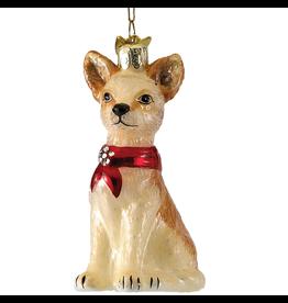 Kurt Adler Glass Chihuahua Ornament NB0900CH Noble Gems Christmas