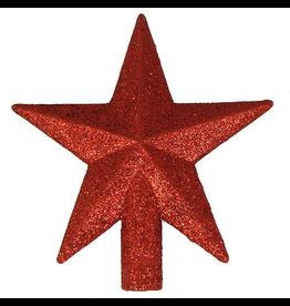 Kurt Adler Mini Christmas Star Tree Topper 4 Inch Red Petite Treasures
